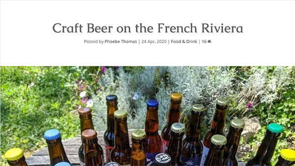 craft beer on the french riviera by lou messugo